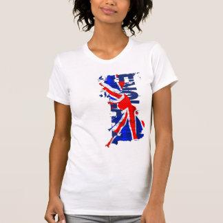 Mapa W de la bandera de Inglaterra Camisetas