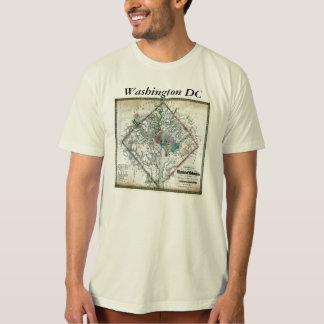 Mapa y bandera del Washington DC Camisetas