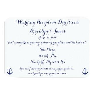 Mapas náuticos y direcciones del boda de los invitación 8,9 x 12,7 cm