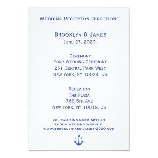 Mapas náuticos y direcciones del boda invitación 8,9 x 12,7 cm