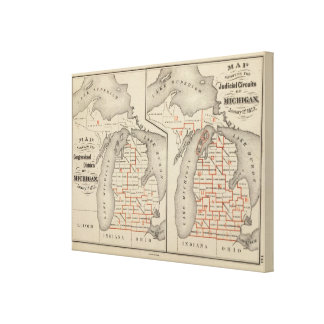 Mapas que muestran los distritos parlamentarios impresión en lienzo