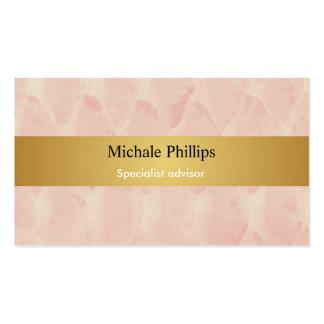 Maquillador - Crema nata oro elegante rosa Tarjetas De Visita