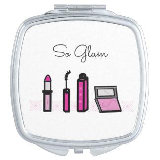 Maquillaje tan atractivo espejo compacto