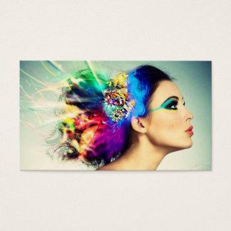Maquillaje y diseño del pelo tarjeta de negocios