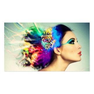Maquillaje y diseño del pelo tarjetas de visita