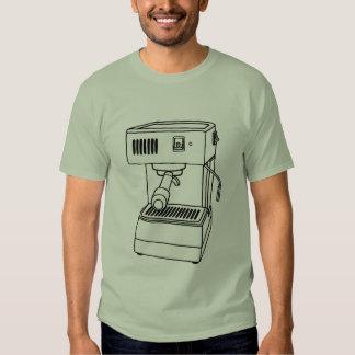 Máquina de café express camisetas