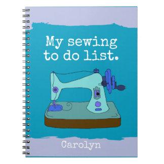 Máquina de coser del vintage - mi costura para cuaderno