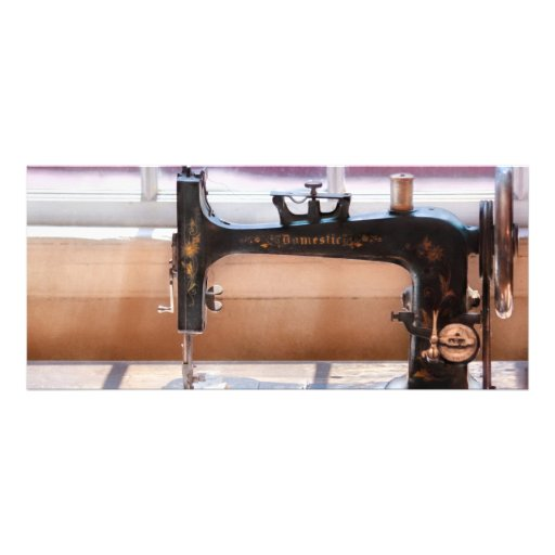 Máquina de coser - una puntada a tiempo tarjetas publicitarias a todo color