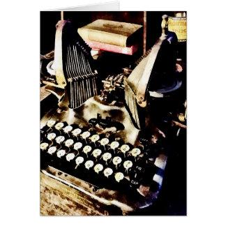 Máquina de escribir antigua Oliverio #9 Tarjeta
