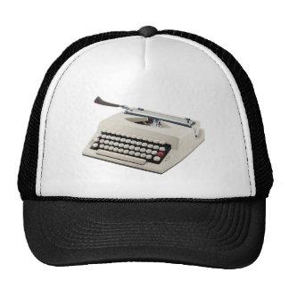 Máquina de escribir gorras de camionero