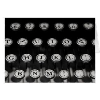 """""""máquina de escribir"""" por Larry Coressel Tarjeta"""