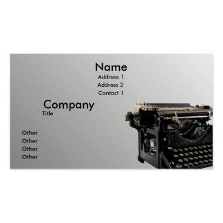 Máquina de escribir vieja plantillas de tarjetas personales