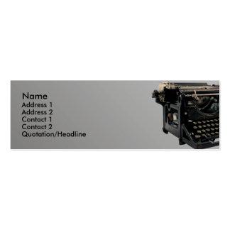 Máquina de escribir vieja tarjetas de visita