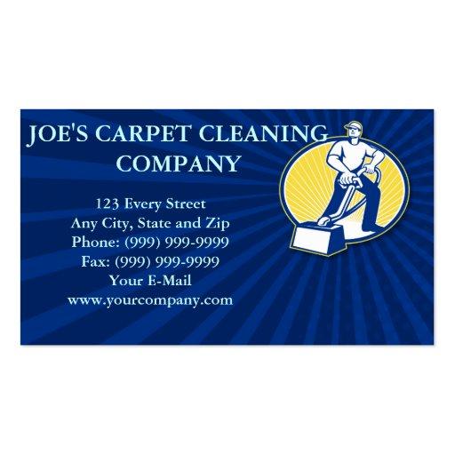 Máquina de la limpieza del vacío del limpiador de  plantilla de tarjeta de negocio