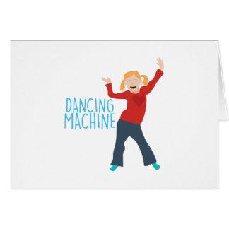 Máquina del baile tarjeta de felicitación