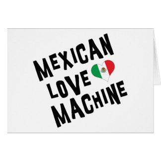 Máquina mexicana del amor tarjeta
