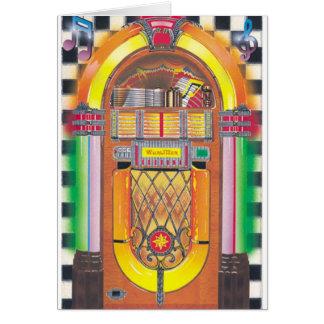 Máquina tocadiscos de Rockin Tarjeta