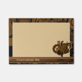 Maquinaria de Steampunk (cobre) Notas Post-it®