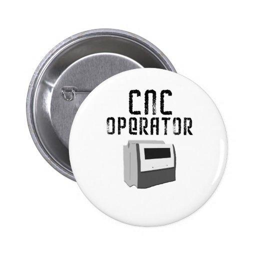 Maquinista del operador del CNC Pin