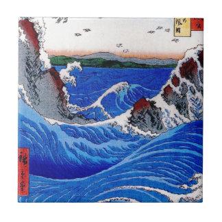 Mar, 歌川広重 de Hiroshige Azulejo Cuadrado Pequeño