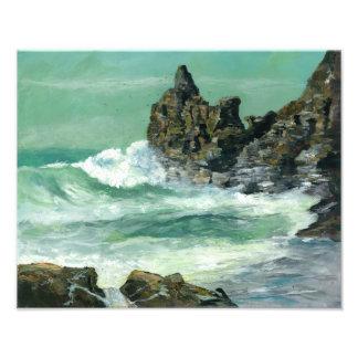 Mar agitado en St Inés de la ensenada de Foto