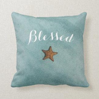 mar artsy bendecido cita hermosa de las estrellas cojín decorativo