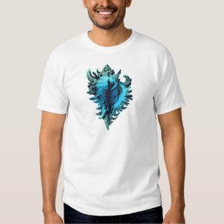 Mar azul Shell de la aguamarina Camiseta