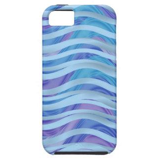 Mar de cintas en azul y púrpura iPhone 5 protectores