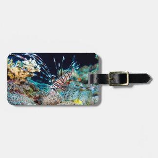 Mar de coral de la gran barrera de coral del etiqueta para maletas