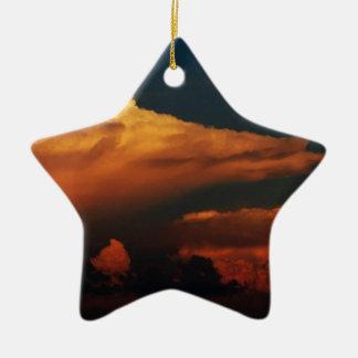 Mar de nubes adorno de cerámica en forma de estrella