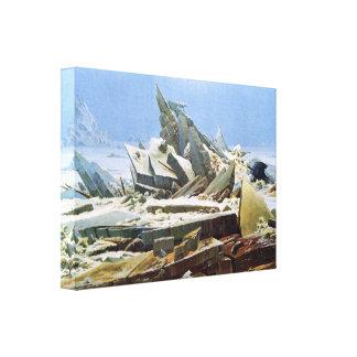 Mar del hielo por Friedrich - lona estirada Impresiones De Lienzo