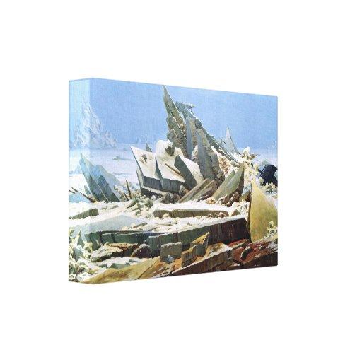 Mar del hielo por Friedrich - lona estirada Impresiones En Lona Estiradas