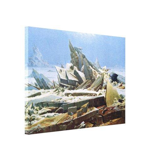 Mar del hielo por Friedrich - lona estirada Lona Estirada Galerias