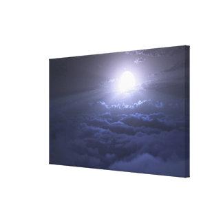 Mar del rayo de luna lienzo