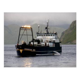 Mar siberiano, barco pesquero del palangrero postal