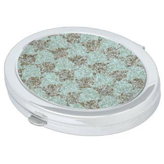 Mar-vidrio y oro de Gems_Roses_Turquoise-Deep Espejos De Viaje
