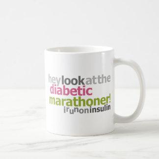 Marathoner diabético - corro en la insulina tazas