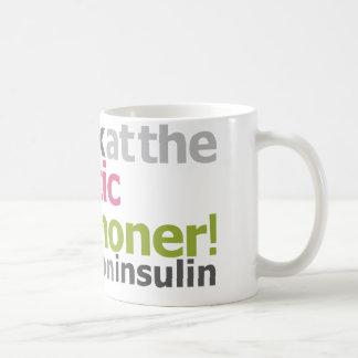 Marathoner diabético - corro en la insulina taza de café