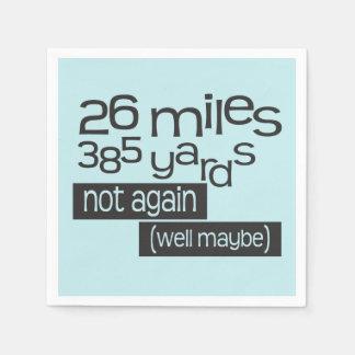 Maratón divertido 26 millas 385 yardas de © - servilletas de papel