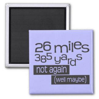 Maratón divertido 26 millas 385 yardas imanes