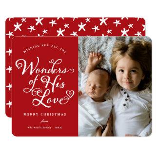 Maravillas el suyo tarjeta religiosa de la foto invitación 12,7 x 17,8 cm