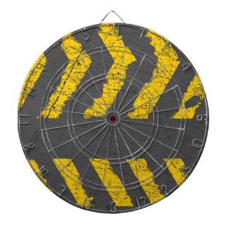 Marca de camino amarilla apenada Grunge Diana