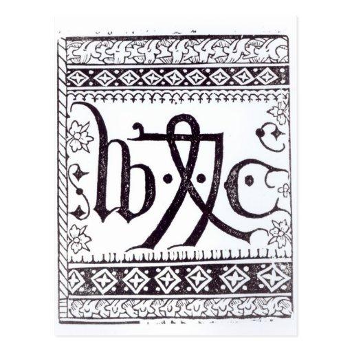 Marca de la impresión de William Caxton Tarjetas Postales