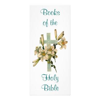 Marca de libro cruzada floral tarjeta publicitaria