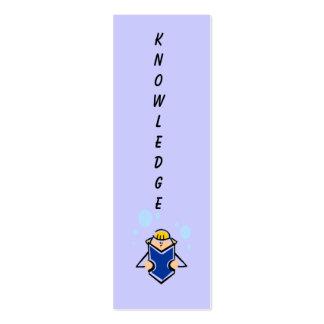 Marca de libro del conocimiento plantillas de tarjetas personales