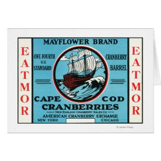 Marca de los arándanos de Cape Cod Mayflower Eatmo Tarjeta De Felicitación