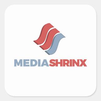 Marca de MediaShrinx Pegatina Cuadrada