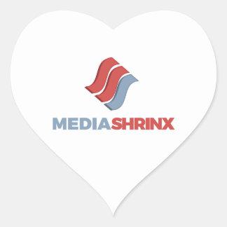 Marca de MediaShrinx Pegatina En Forma De Corazón
