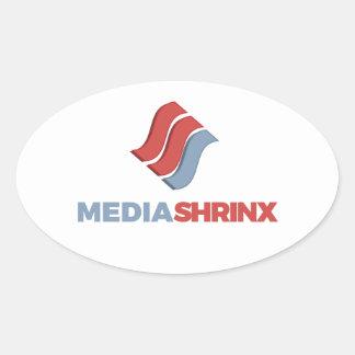 Marca de MediaShrinx Pegatina Ovalada
