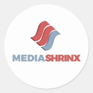 Marca de MediaShrinx Pegatina Redonda